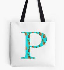 Rho Pineapple Letter Tote Bag