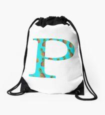 Rho Pineapple Letter Drawstring Bag