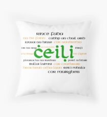 Irish Dance Ceili (Light) Throw Pillow