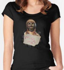 Annabelle the Doll Women's Fitted Scoop T-Shirt