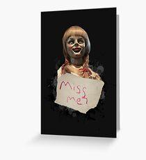 Annabelle die Puppe Grußkarte