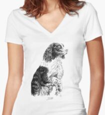 an old lost friend Women's Fitted V-Neck T-Shirt