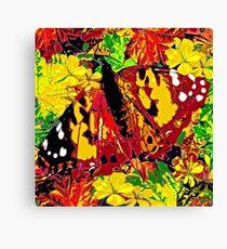 Butterfly Autumn Canvas Print