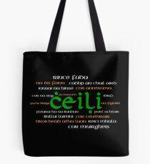 Irish Dance Ceili (Dark) Tote Bag