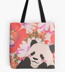 Panda in Daisies Tote Bag