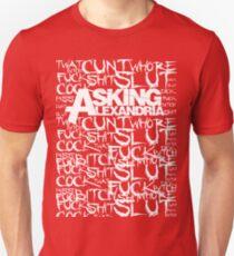 Asking Alexandria rock n roll bad words T-Shirt
