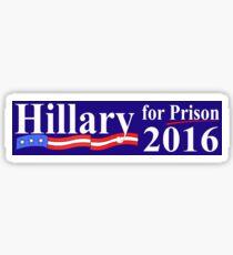 Hillary for Prison Bumper sticker Sticker