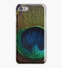 Peacock Close Up: Macro Photography iPhone Case/Skin