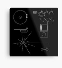 The Voyager Golden Record Metal Print