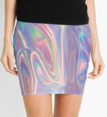 Holographic waves in purple Mini Skirt