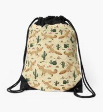 Desert of the Fennec Fox Drawstring Bag