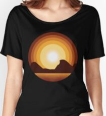 Circle Sunset Women's Relaxed Fit T-Shirt