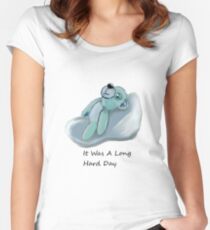 it was a long hard day Women's Fitted Scoop T-Shirt