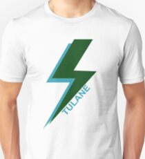 Tulane University Lightning Bolt Artwork Unisex T-Shirt