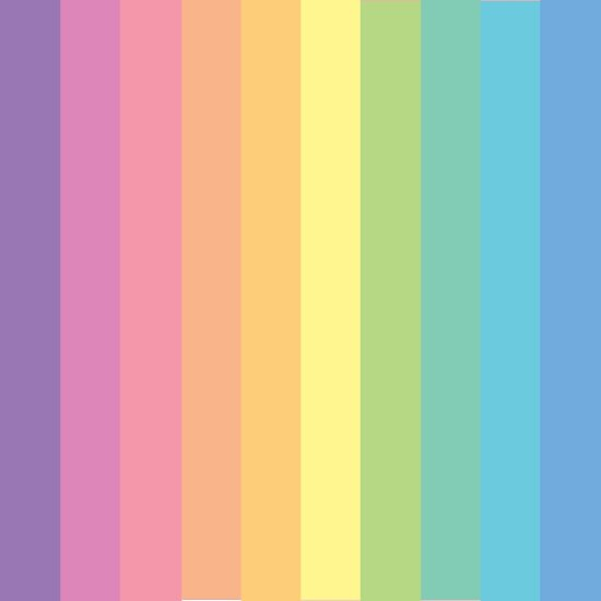 "Pastel Color Palette: ""Rainbow Stripes Pastel Colour Palette"