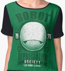 Robot Depreciation Society - Marvin the Paranoid Android Chiffon Top