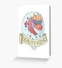 Flower Crown Tyrantrum - Beauty King Greeting Card