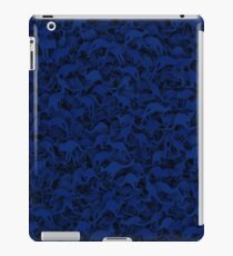 Deep blue kangaroos iPad Case/Skin