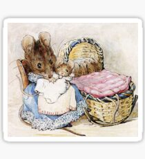 Beatrix Potter, Momma Mouse and Babies Sticker