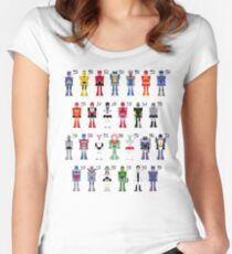 Transformers Alphabet Women's Fitted Scoop T-Shirt