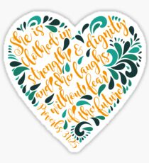 Proverbs 31:25 Corazon Sticker