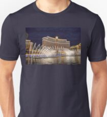 USA. Nevada. Las Vegas. Bellagio Fountains Show. Night. Unisex T-Shirt