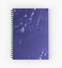Marshall Islands Bikini Atoll Satellite Image Spiral Notebook