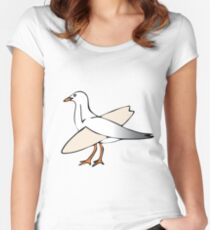 Gulls just wanna have fun! Women's Fitted Scoop T-Shirt