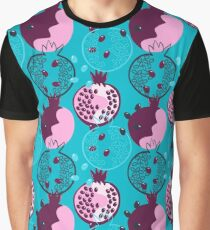 Pomegranate Abstractions  Graphic T-Shirt