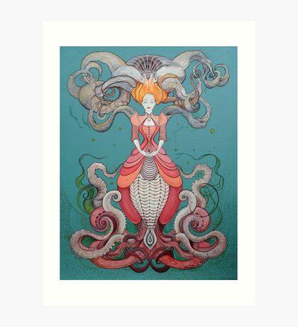Lady Octopus Art Print