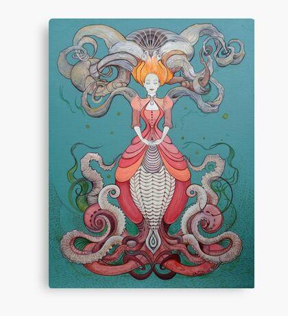 Lady Octopus Canvas Print