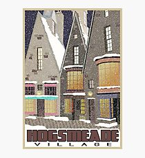 Hogsmeade Village Travel Poster Photographic Print