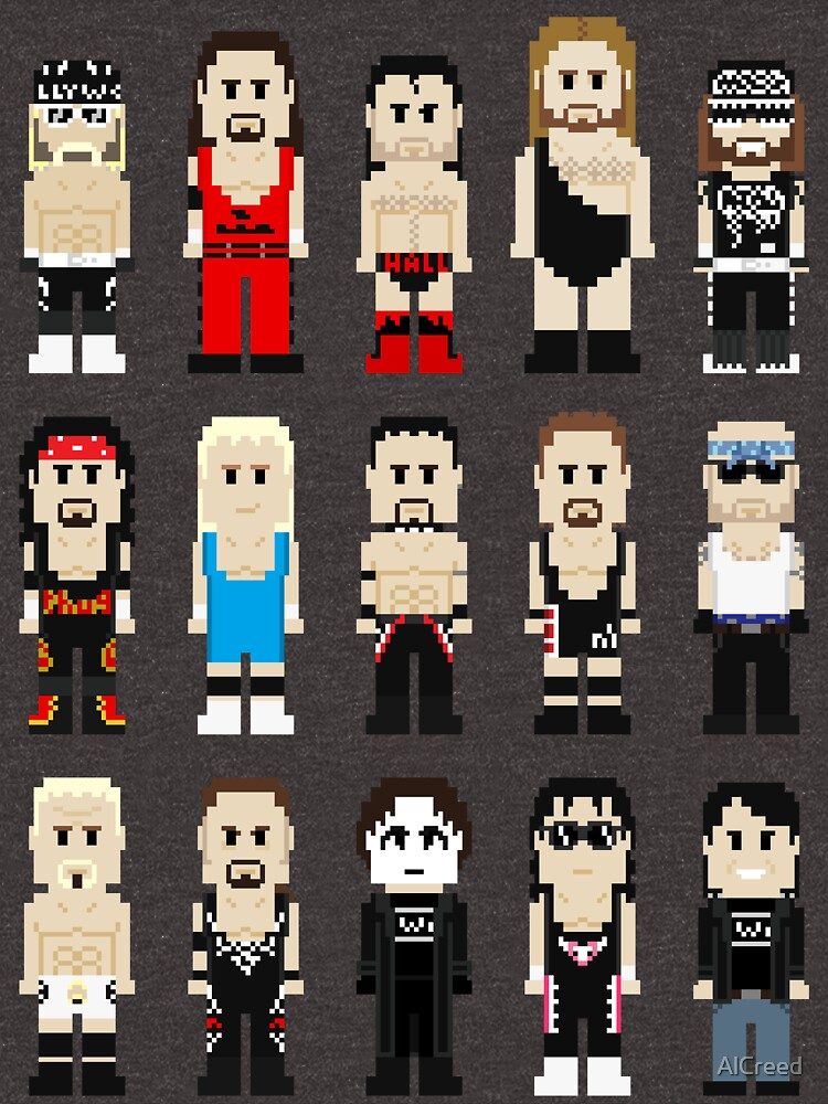 8-Bit Wrestlers 4 Life by AlCreed