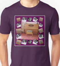 An Invitation To Play - Piano Keys Collage T-Shirt
