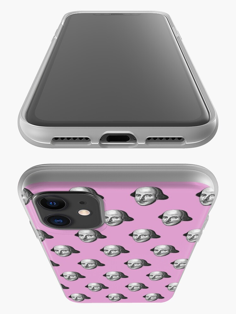 Alternate view of Shakespeare Etching Pattern (Pink) iPhone Case & Cover