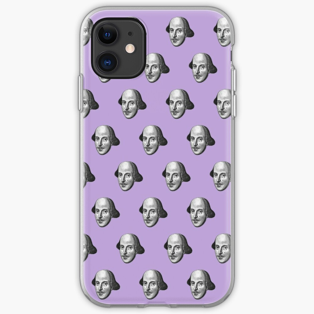 Shakespeare Etching Pattern (Purple) iPhone Case & Cover