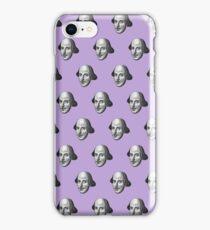 Shakespeare Etching Pattern (Purple) iPhone Case/Skin