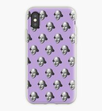 Shakespeare Etching Pattern (Purple) iPhone Case