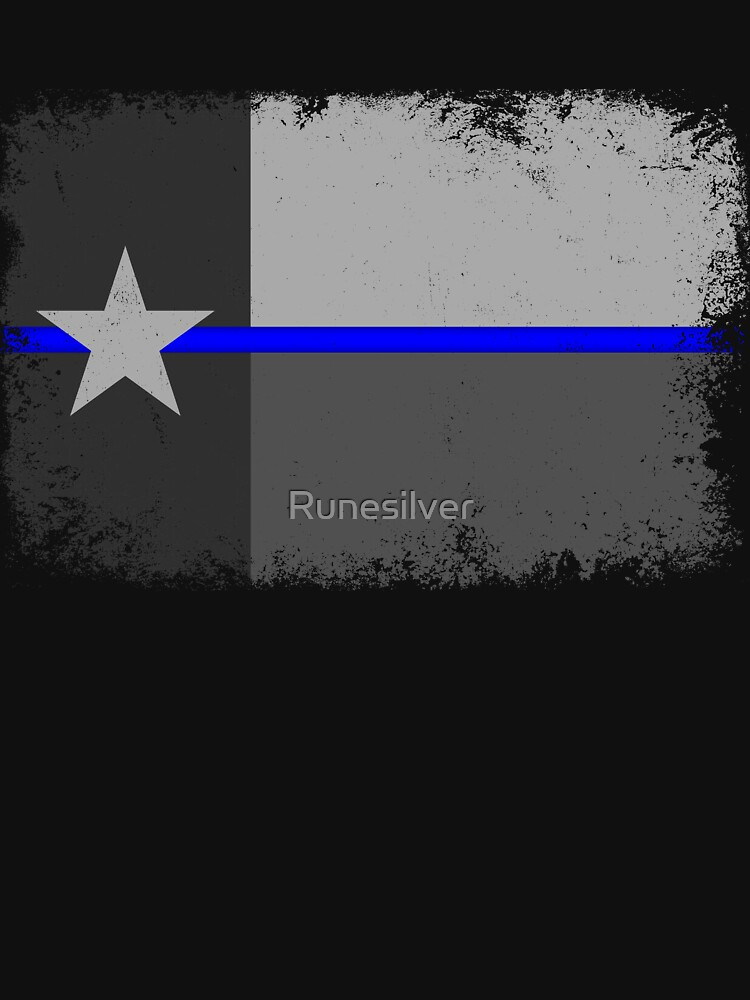 Blue Line Texas State Flag by Runesilver