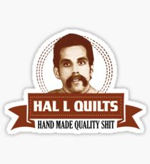 Hal L Quilts Hand Made Quality Happy Gilmore Sticker