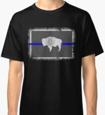 Blue Line Wyoming State Flag Classic T-Shirt