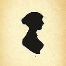 Jane Austen Silhouette (Big) by Dalton Rowe