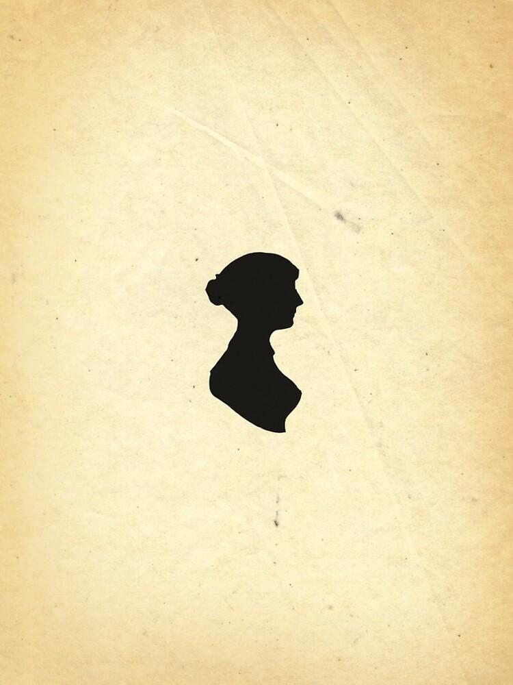 Jane Austen Silhouette (Small) by daltonrowe