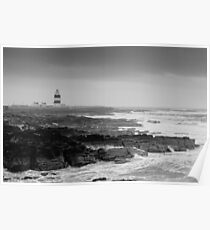 Hook Head Lighthouse on a stormy day, County Wexford, Ireland Poster