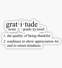 define: gratitude Sticker