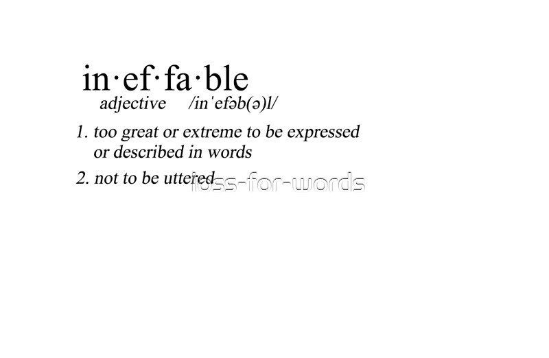 Ineffable Definition