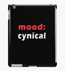 mood - cynical iPad Case/Skin