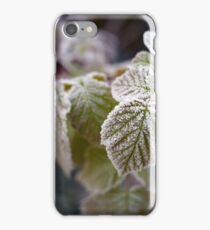 Frozen rasberry leaves iPhone Case/Skin
