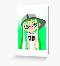 Splatoon - Inkling girl Green HD (Actualized 08/13/2016) Greeting Card