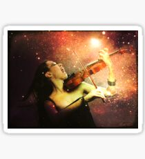 Music explodes in the night Sticker